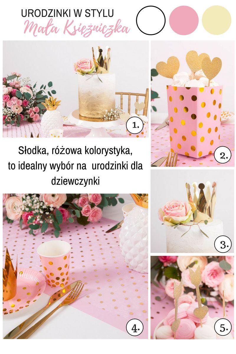 Różowo-złote dekoracje na urodziny dziewczynki