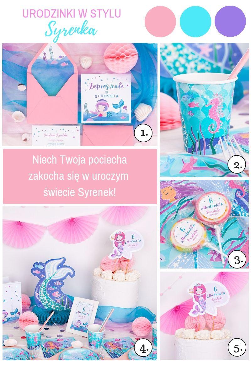 Przepiękne dekoracje na urodziny dziewczynki syrenka