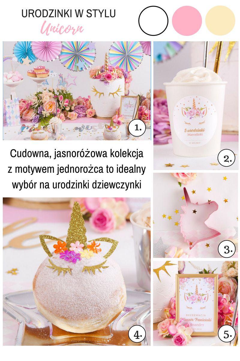 Dekoracje na urodziny dziecka unicorn