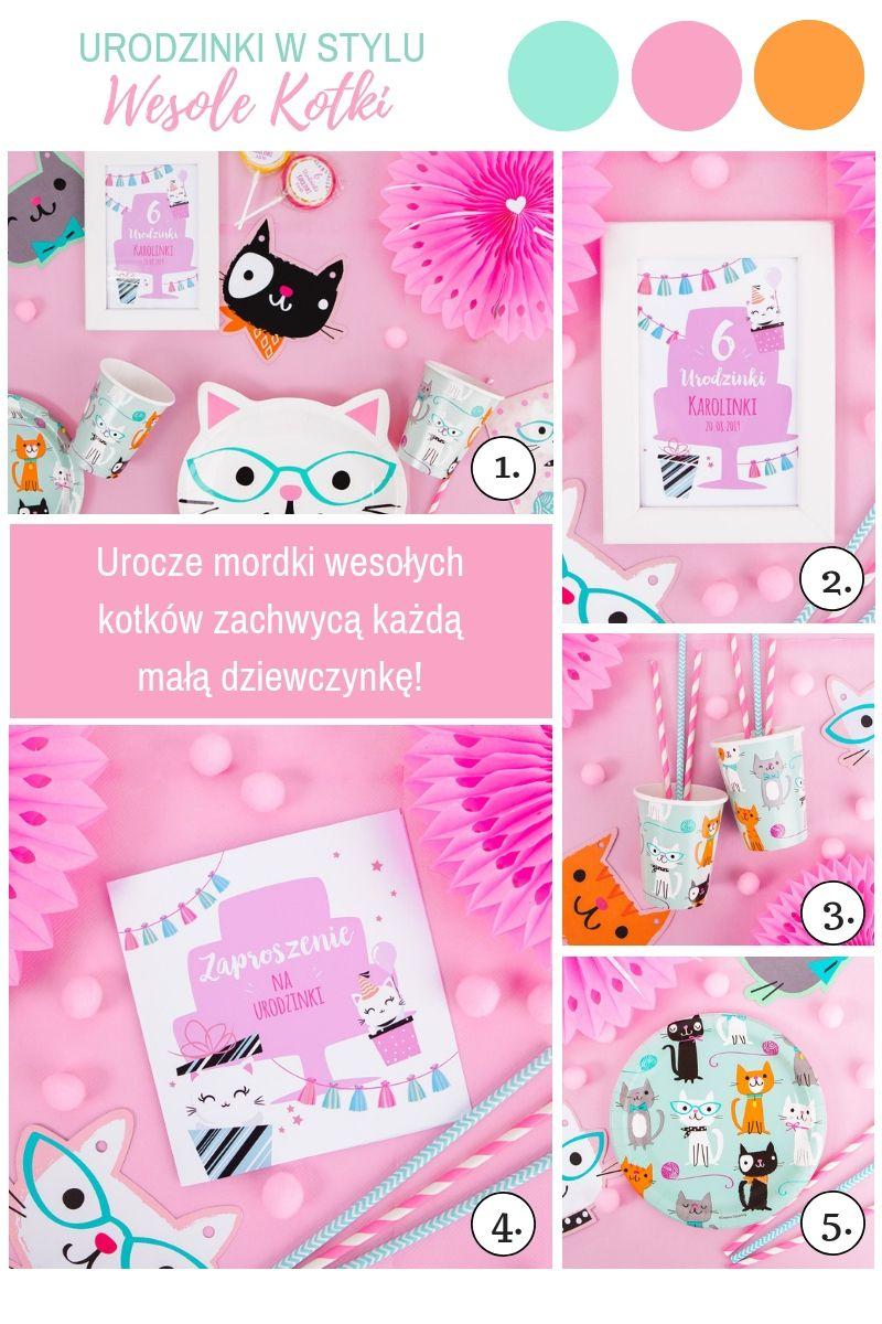 Dekoracje na urodziny dziewczynki kotki