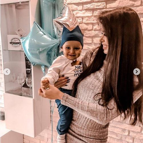 Balony na roczek chłopca