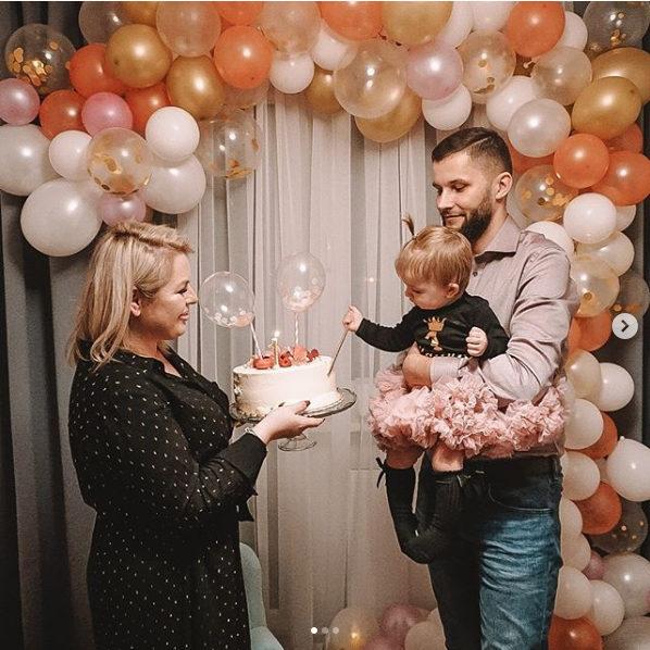 Balony na Roczek dziewczynki