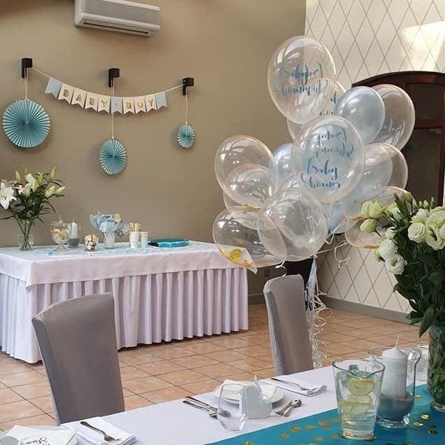 Dekoracje na Baby shower niebieskie