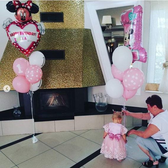 Balony lateksowe na roczek dziewczynki