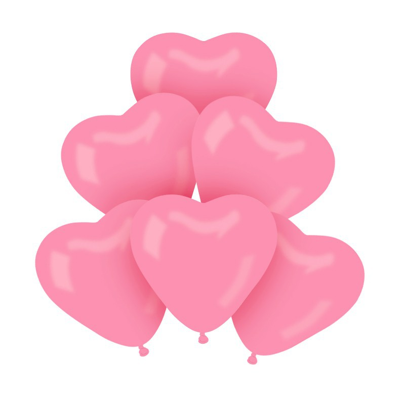 Balony różowe serca na Baby Shower