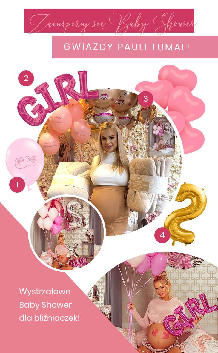 Dekoracje na Baby Shower gwiazdy - Paula Tumala