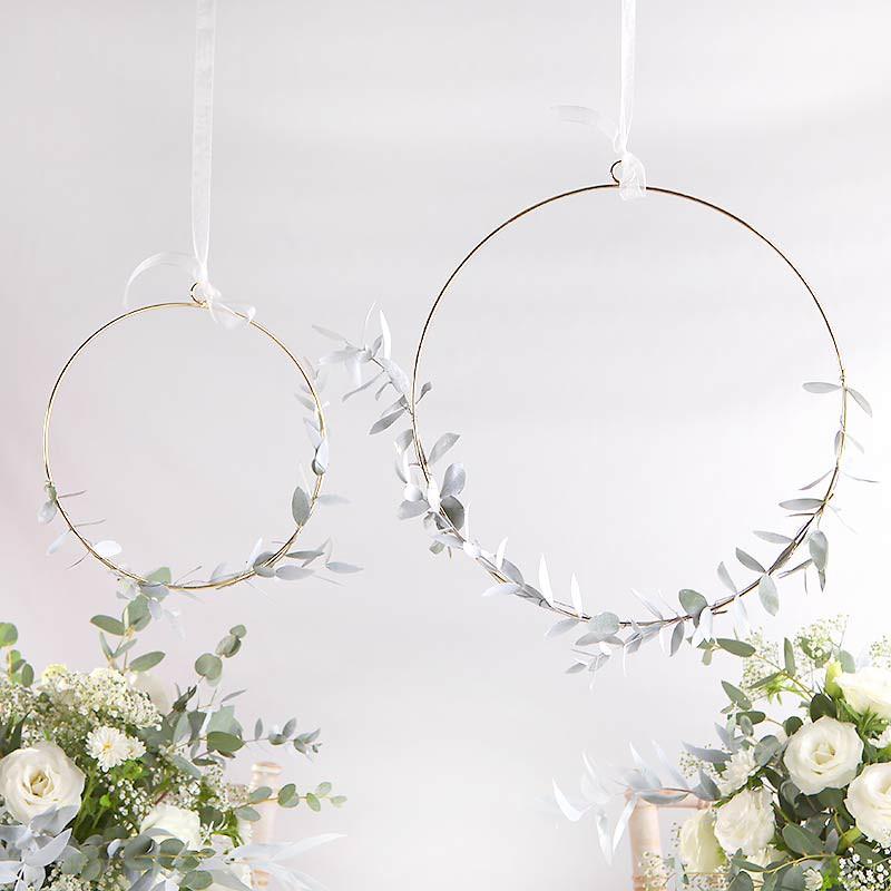 Metalowe obręcze wianuszki do samodzielnej dekoracji i aranżacji