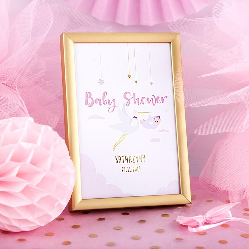 Dekoracja stołu na Baby Shower tabliczka